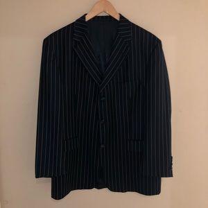 Burberry Men's Pinstripe Blue Blazer Size 44 Short